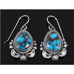 Navajo Egyptian Turquoise & Sterling Earrings