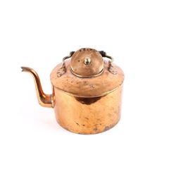 19th C. Copper Dovetail Penn. Gooseneck Kettle
