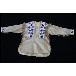 Sioux Whimsical Beaded War Shirt Late19th Century