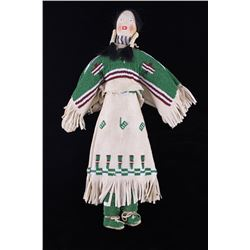 Sioux Mary Standstall Fully Beaded Hide Doll RARE
