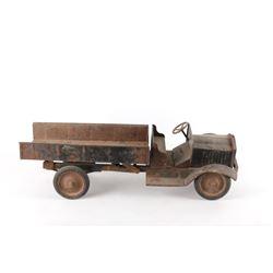 Rare Buddy L Steel Pressed Open Cab Dump Truck