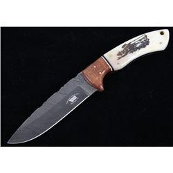 M.T. Knives Smokey Bear Custom Damascus Knife