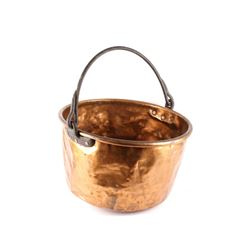 19th C. Large Dovetail Copper Confectionary Pot