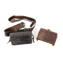 Rare U.S. Calvary Leather Ammo Pouches c 19th Cent