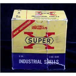 Full Box of Western Super X 8 Gauge 3oz. Slugs