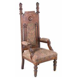 Eastlake Victorian Masonic Lodge Chair C. 1800's