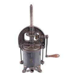 Enterprise MFG Co. Cast Iron Sausage Press