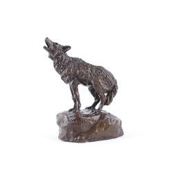 1975 Original Bob Scriver Howling Coyote Bronze