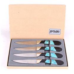 Turquoise & Black Amber Santa Fe Cutlery Set