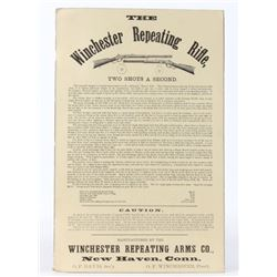 Rare Early Winchester Repeating Rifles Ad Poster
