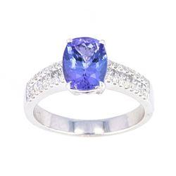 Natural Tanzanite & Diamond 14K Ring