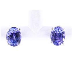 Tanzanite (4.73ct) Solitaire 14K Stud Earrings