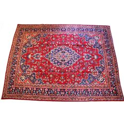 Mahal Persian Hand Knotted Wool Rug 1900's