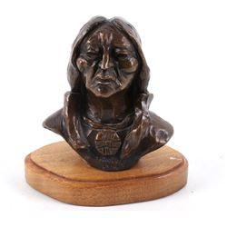 Gordon Monroe Sitting Bull Original Bronze Bust