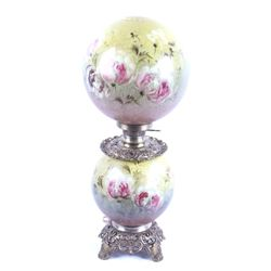 Gone With The Wind Painted Glass Parlor Lamp