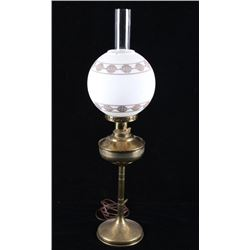 Art Deco Brass Converted Oil Lamp Stand