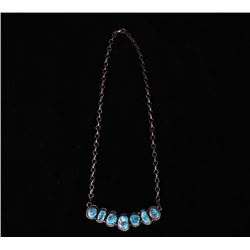 Signed Sterling & Kingman Turquoise Necklace