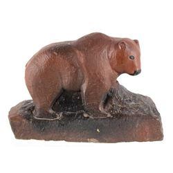 Hank Chopwood 1941-2005 Sandstone Bear Sculpture