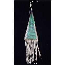 Sioux Fully Beaded Tomahawk Hide Drop 1900-1950