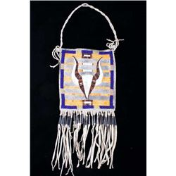 Cheyenne Buffalo Quilled & Beaded Society Pouch
