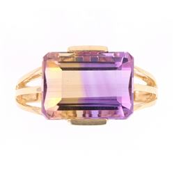Bi-Color Ametrine (7.46ct) 14K Ring