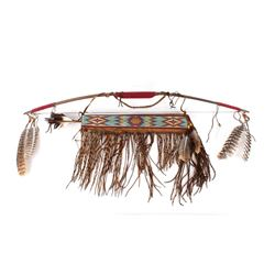 Northern Plains Beaded Quiver, Bow & Arrow Set
