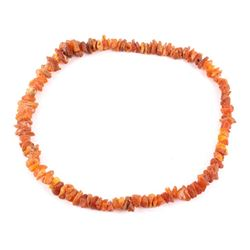 Unpolished Natural Amber Trade Necklace