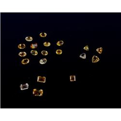 7.69 Carat Collection of Loose Citrine Gemstones