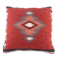 Soplador Rust Churro Wool Pillow by Luis Hernandez