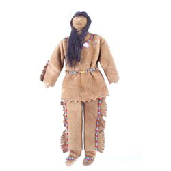 Coeur d'Alene Indian Chief Beaded Doll c. 1941