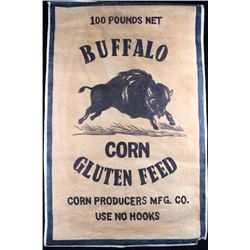 Buffalo Corn Feed Canvas Advertising Sign