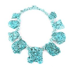 Spectacular Large Turquoise Nugget Necklace