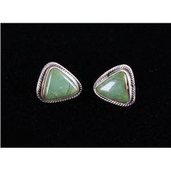 Navajo B. Lee Silver & Kingman Turquoise Earrings