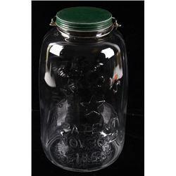 1858 Mason's Large Glass American Eagle Jar