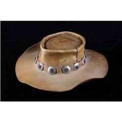 Vintage Cowboy Hat w/ Nickel Concho Band Accents