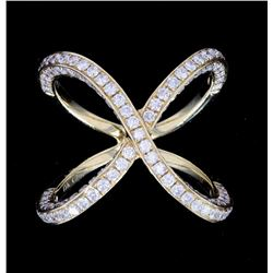 Beautiful Infinity 18K Ring w/ 3.87ct. of Diamonds