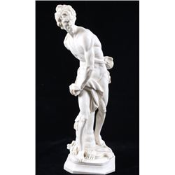 H. Soutille Signed Resin Male Greek Style Statue