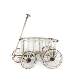 Wooden & Wrought Iron Goat Wagon c. 1900's