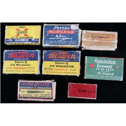 Collection of Vintage & Hard to Find Ammo/ Boxes
