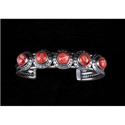 Navajo Tahe Sterling & Spiny Oyster Bracelet