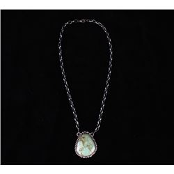 Navajo Sterling & Thunder Mtn Turquoise Necklace