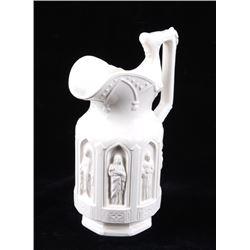 Lego White Ceramic Decorative Carved Pitcher