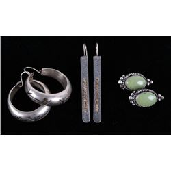 Navajo, Mexican Sterling Silver Earring Collection