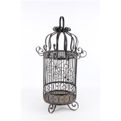 Mid Century Mexican Wrought Iron Bird Cage