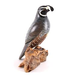 Hand Carved & Painted California Quail