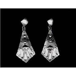Tim Yazzie Navajo Sterling Silver Earrings