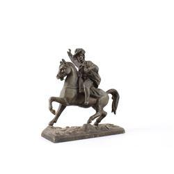 Brass Horseman Sculpture circa Mid 1900's