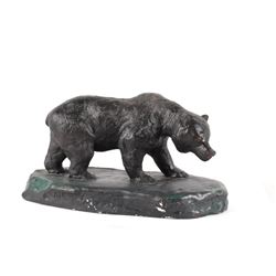 1971 Painted Cast Porcelain Bear by B. Butler