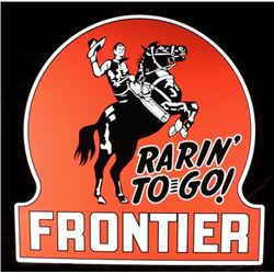 Rarin' To Go Frontier Advertising Sign