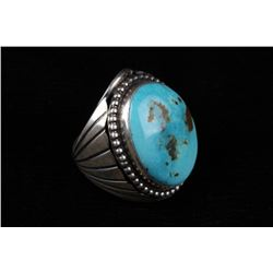 Yazzie Sterling Silver & Kingman Turquoise Ring